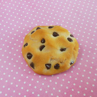 chocolate chip cookie polymer clay magnet