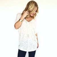 Autumn Knit Tunic Top In Oatmeal