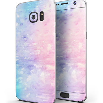 Washed Pink 4 Absorbed Watercolor Texture - Full Body Skin-Kit for the Samsung Galaxy S7 or S7 Edge