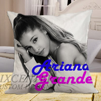 "Ariana Grande Pose on square pillow cover 16"" 18"" 20"""
