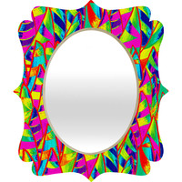 Renie Britenbucher Abstract Sailboats Neon Quatrefoil Mirror