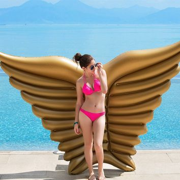 Gold Huge Angel Wing Inflatable Pool Float