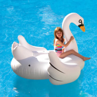 Giant Swan 72-in Inflatable Ride-On Pool Float