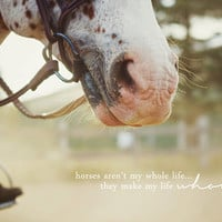 horses make life whole. Art Print by lissalaine | Society6