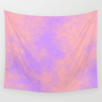 Cotton Candy Clouds - Pink & Purple Wall Tapestry by Moonshine Paradise