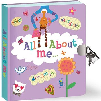 Peaceable Kingdom All About Me Lock & Key Diary