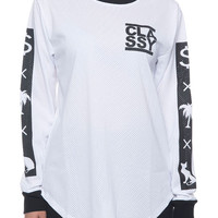 The Money Trees Pussy Cat L/S Mesh Shirt in White