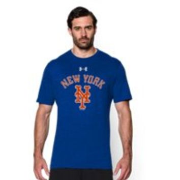 Under Armour Men's New York Mets Retro Charged Cotton Tri-Blend T-Shirt