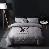 Louis Vuitton LV Duvet cover Blanket Quilt coverlet Pillow shams 4 PC Bedding SET