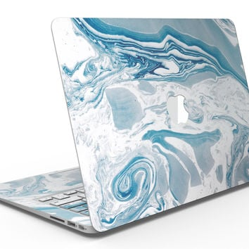 Mixtured Blue 57 Textured Marble - MacBook Air Skin Kit