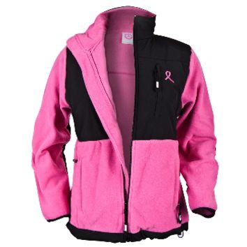 Breast Cancer Awareness - Pink Ribbon Juniors Fleece Jacket | OldGlory.com