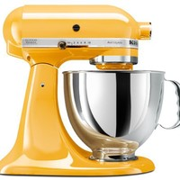 KitchenAid KSM150PSBF Artisan 5-Quart Stand Mixer, Buttercup