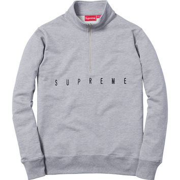 Supreme: United Half Zip Pullover - Heather Grey