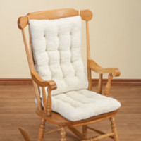 Sherpa Rocking Chair Cushion Set by OakRidge Comforts
