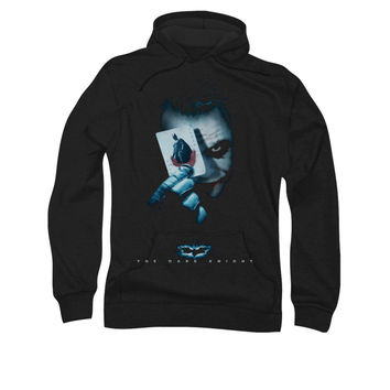 Dark Knight Joker Holding Batman Card Mens Pullover Hoodie