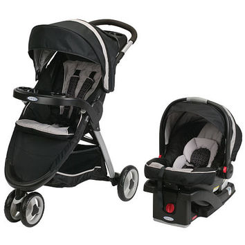Graco Fast Action Fold Sport Click Connect Travel System - Pierce