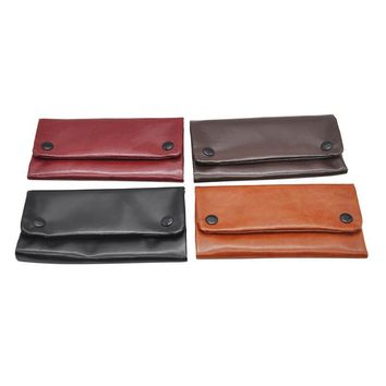 3 Color Cigarette Accessories PU Leather Smoking Paper Holders Tobacco Pouch Portable Wallet Bag Pipe Cigarette Holder 1 PC