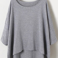 Grey Half Sleeve T-shirt
