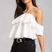 Flounce Open-Shoulder Top
