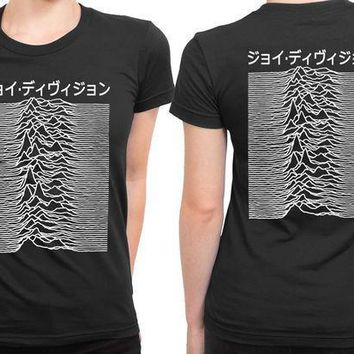 Joy Division Unknown Pleasure Mandarin Words 2 Sided Womens T Shirt