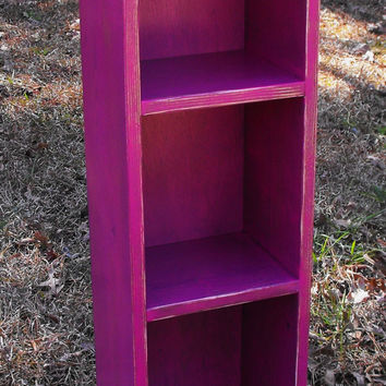 Storage Tower Book Case Shabby Cottage Style 36'' x 10'' x 7 1/2''