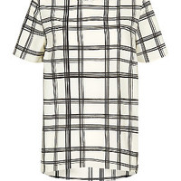 Monochrome Grid Print T-Shirt