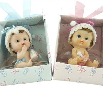Baby Shower Party Favor - Boy or Girl Cute Baby, Light Blue