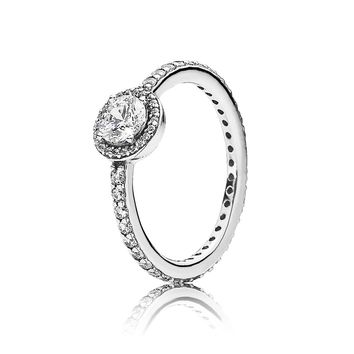 PANDORA Classic Elegance Ring, Clear CZ - Size 7.5