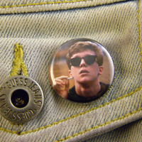 "1"" Pin Back Button- The Brekfast Club / Anthony Michael Hall as Brian Johnson  - 1455"