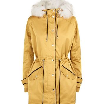 Mustard Yellow Parka Jacket | New Look
