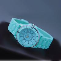 Mint Color Silicone Watch RUS06f