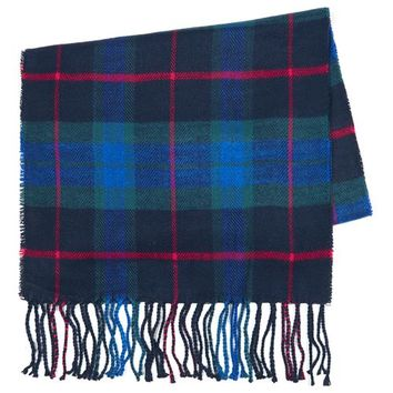 Cobalt Blue Tartan Scarf - New Arrivals - New In