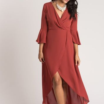 Genevieve Rust Maxi Dress