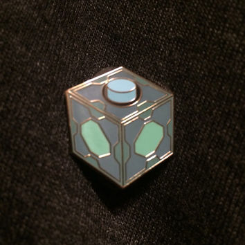Meeseeks box rick and morty hat pin