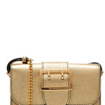 Metallic Leather Shoulder Bag - Burberry Shoes & Accessories | WOMEN | US STYLEBOP.com
