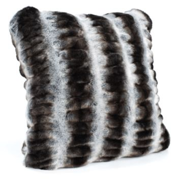 Grey Chinchilla Faux Fur Pillows by Fabulous Furs