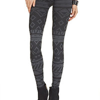 Material Girl Juniors' Tribal-Print Leggings