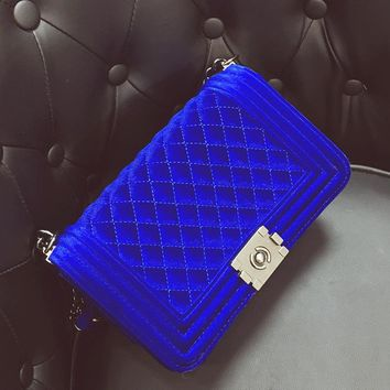 Diamond Embroidery Women's Bag Velvet Luxury Handbags Women Bags Ladies Party Purse And Clutches Velour Crossbody Shoulder Bags