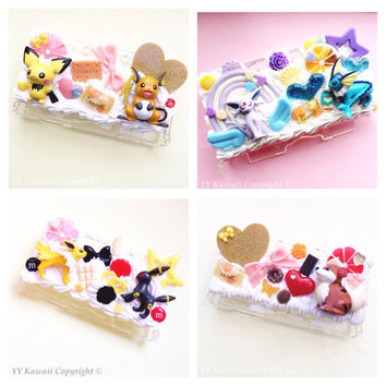 Custom Pokemon Inspired Decoden 3DS Case including slyveon, Pickachu, mew, squirtle, charmander and more