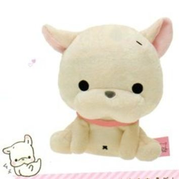 "San-X Toromi French Bulldog Puppy 5.5"" Plush"