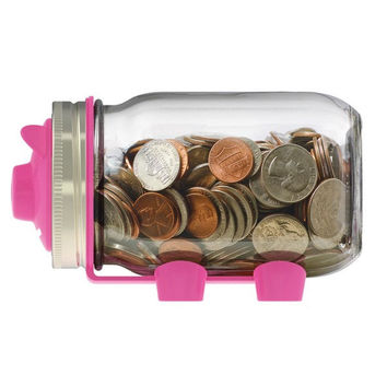 Jarware Mason Jar Piggy Bank Lid