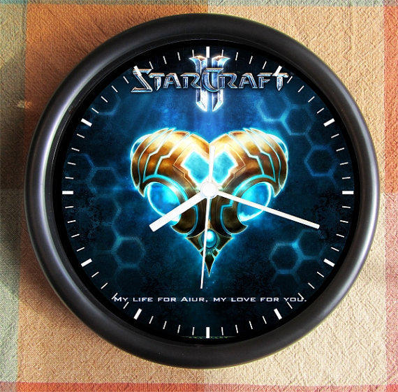 STARCRAFT ll  STARCRAFT 2 10 inch Resin Wall Clock Contact Me for Custom Clocks Under 25.00 Geekery