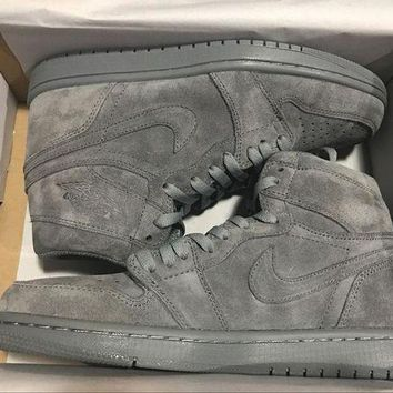 PEAPN Ready Stock' aj1 Air Jordan 1 'Wool' Men Sneaker
