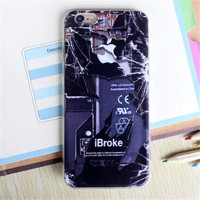 iBroke Real Look Phone Case For iPhone 7 7Plus 6 6s Plus 5 5s SE
