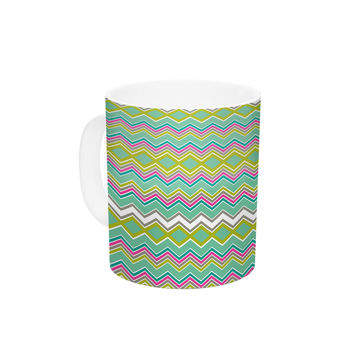 "Nicole Ketchum ""Chevron Love"" Ceramic Coffee Mug"