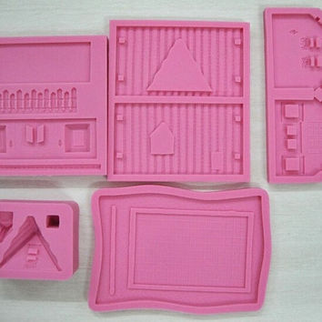 House Building silicone mold for soap candy chocolate fondant cake decorating