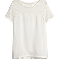 H&M Top with Lace Yoke $12.95