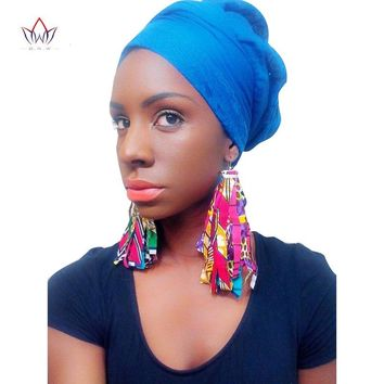 Fabric African Earrings for Women Handmade Jewelry Ankara Earrings with
