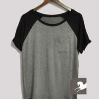 Gray Tee With Pocket