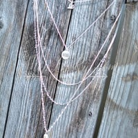 BLESSED LAYERED TOKEN NECKLACE - SILVER